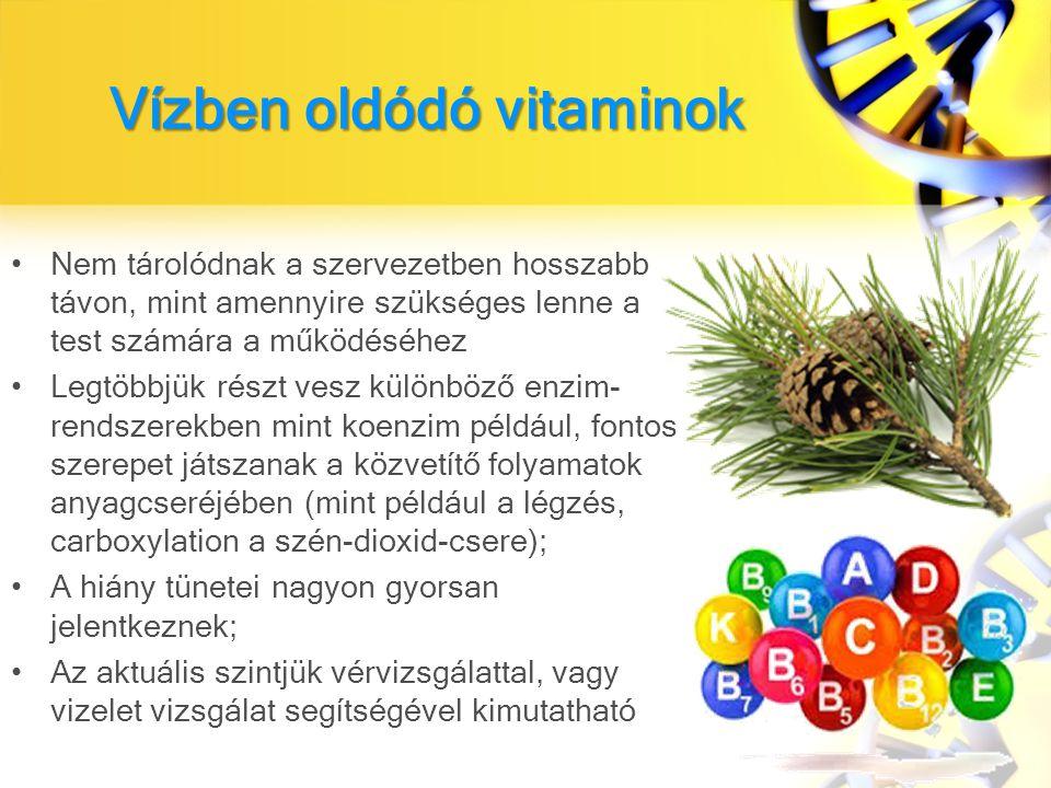 Vízben oldódó vitaminok