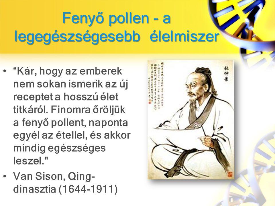 Fenyő pollen - a legegészségesebb élelmiszer
