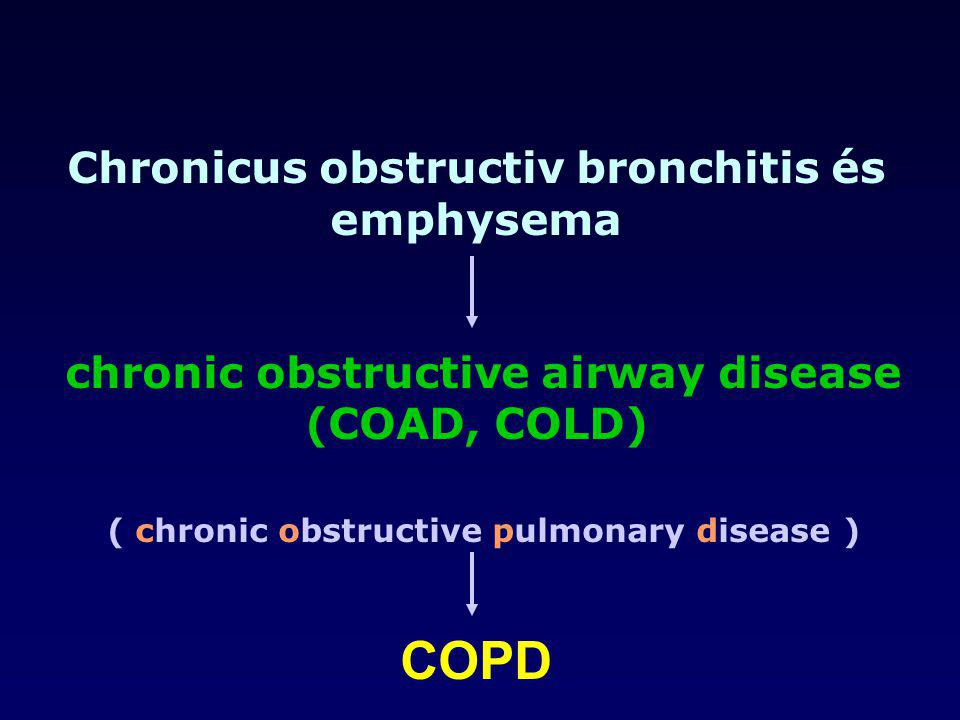 Chronicus obstructiv bronchitis és emphysema