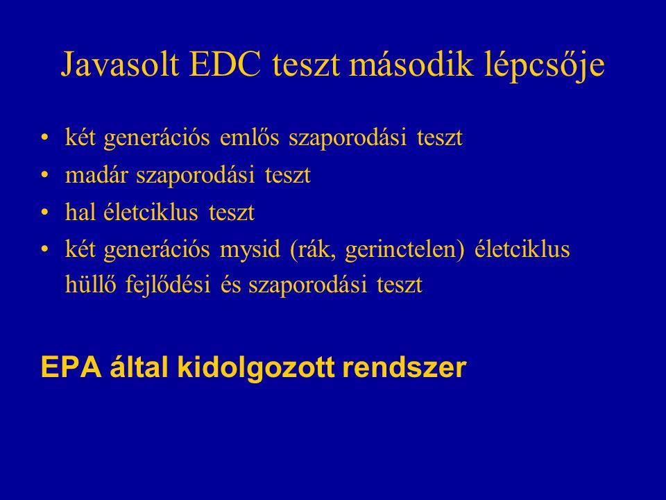 Javasolt EDC teszt második lépcsője