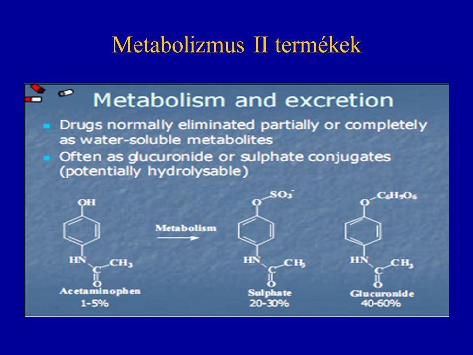 Metabolizmus II termékek