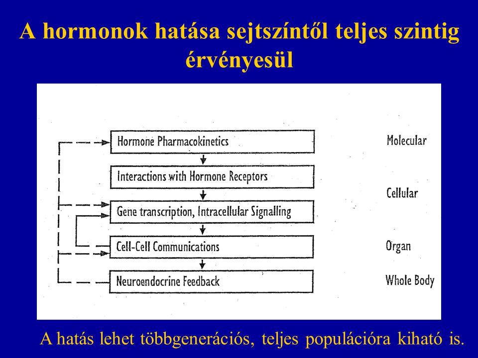 A hormonok hatása sejtszíntől teljes szintig érvényesül
