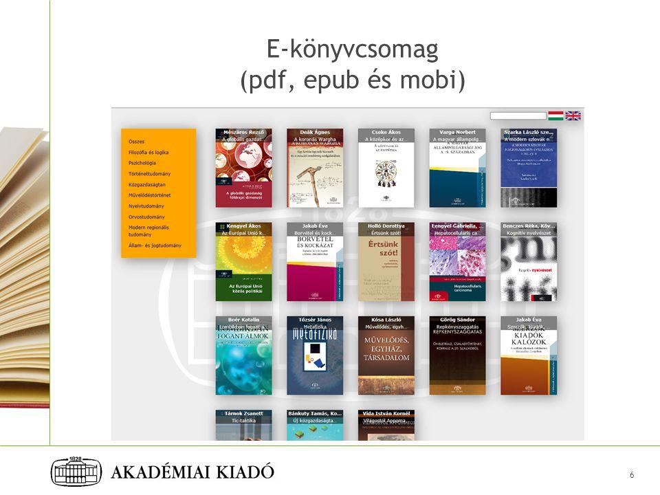 E-könyvcsomag (pdf, epub és mobi)