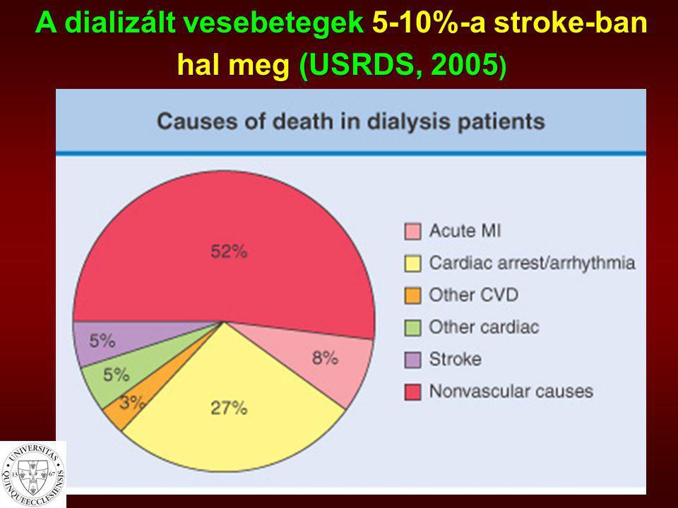A dializált vesebetegek 5-10%-a stroke-ban