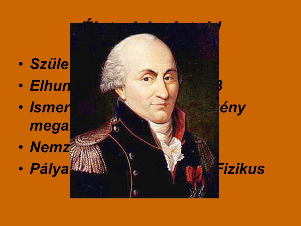 Életrajzi adatok! Született:1736.június.14 Elhunyt:1806.augusztus.23