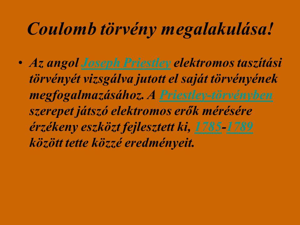 Coulomb törvény megalakulása!