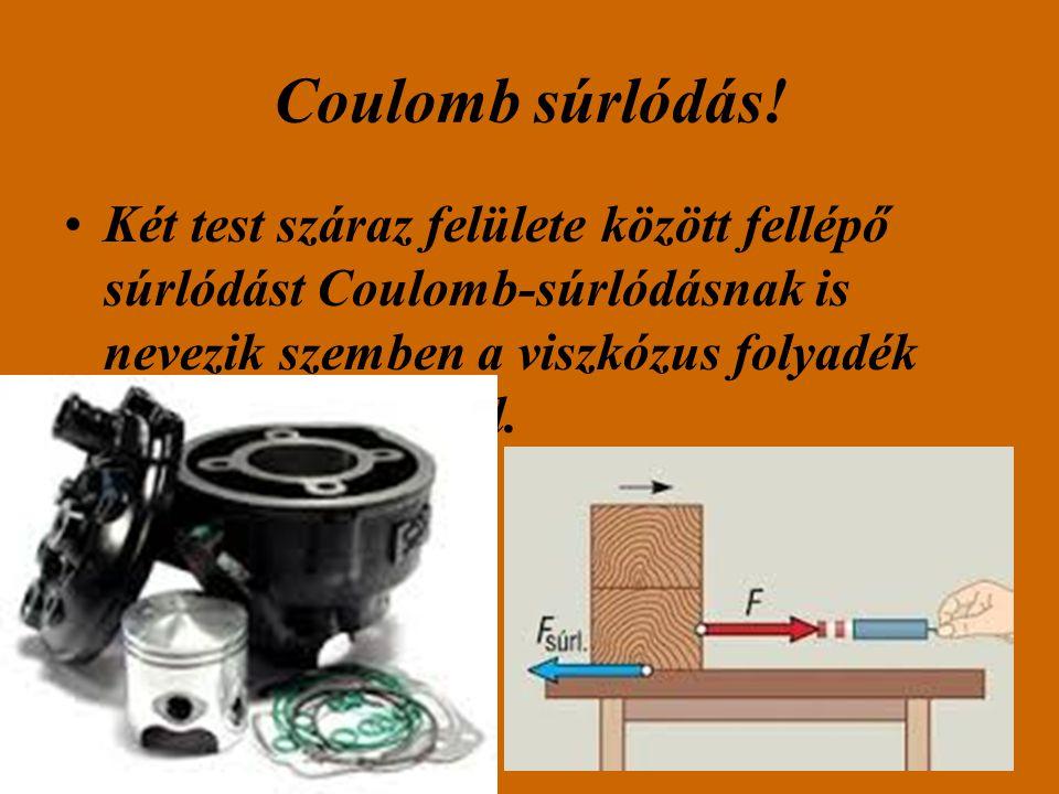 Coulomb súrlódás.
