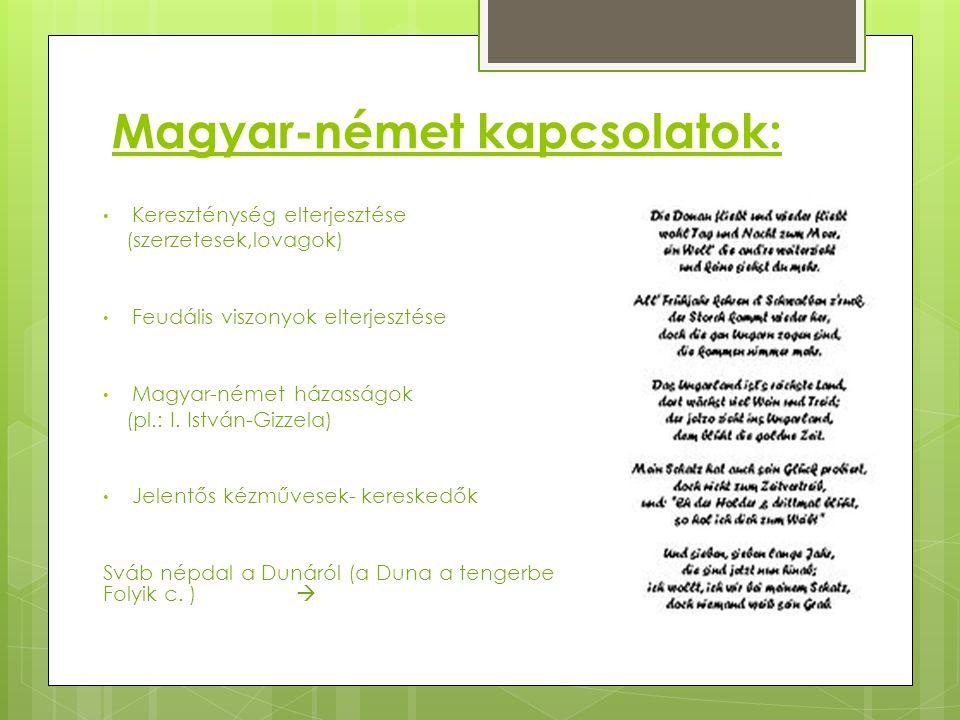 Magyar-német kapcsolatok: