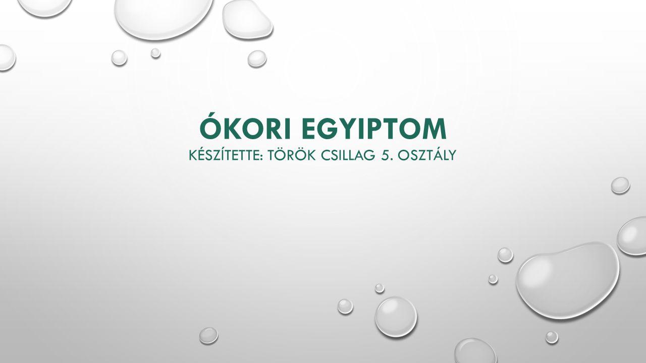 Ókori Egyiptom Készítette: Török Csillag 5. osztály