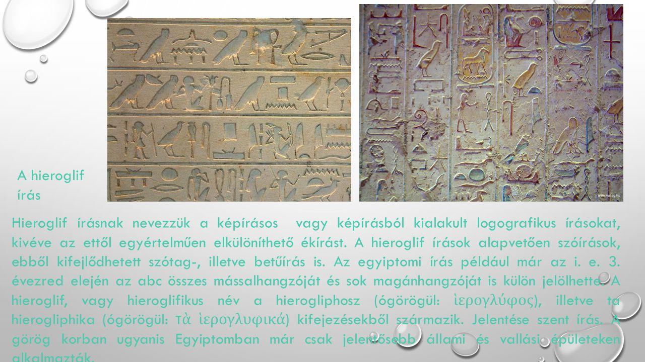 A hieroglif írás