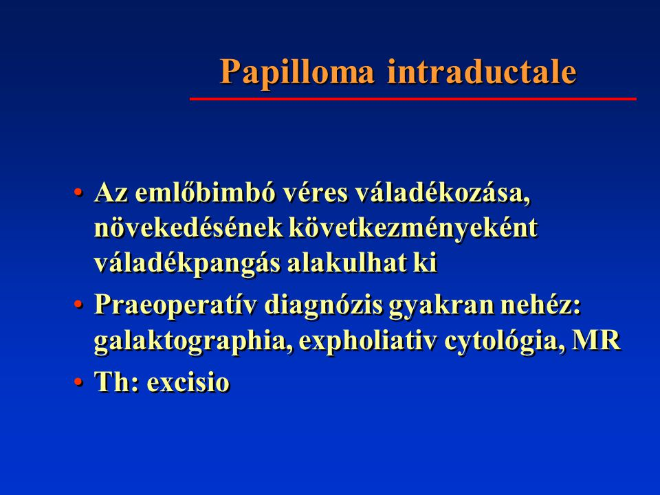 Papilloma intraductale