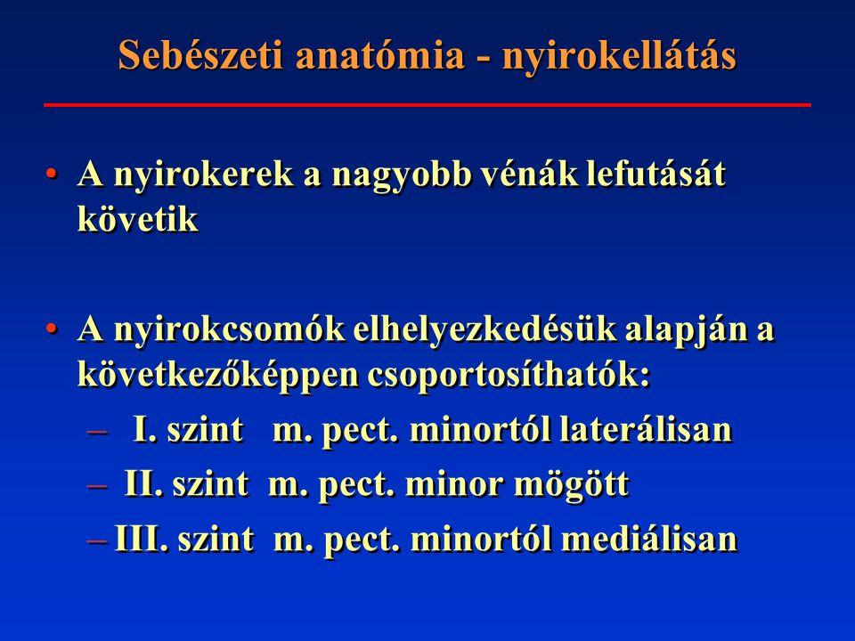 Sebészeti anatómia - nyirokellátás