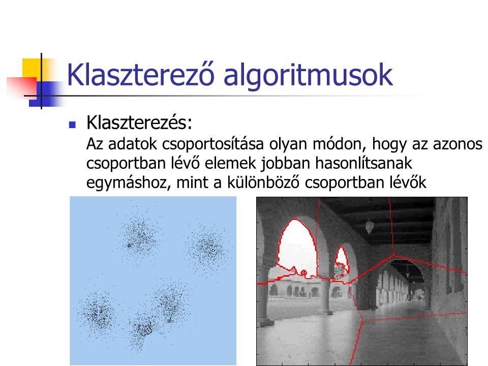 Klaszterező algoritmusok