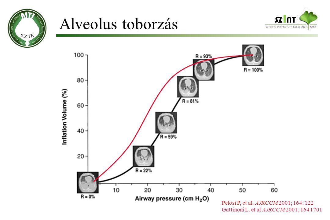 Alveolus toborzás Pelosi P, et al. AJRCCM 2001; 164: 122