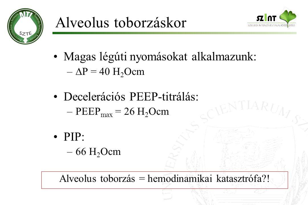 Alveolus toborzás = hemodinamikai katasztrófa !