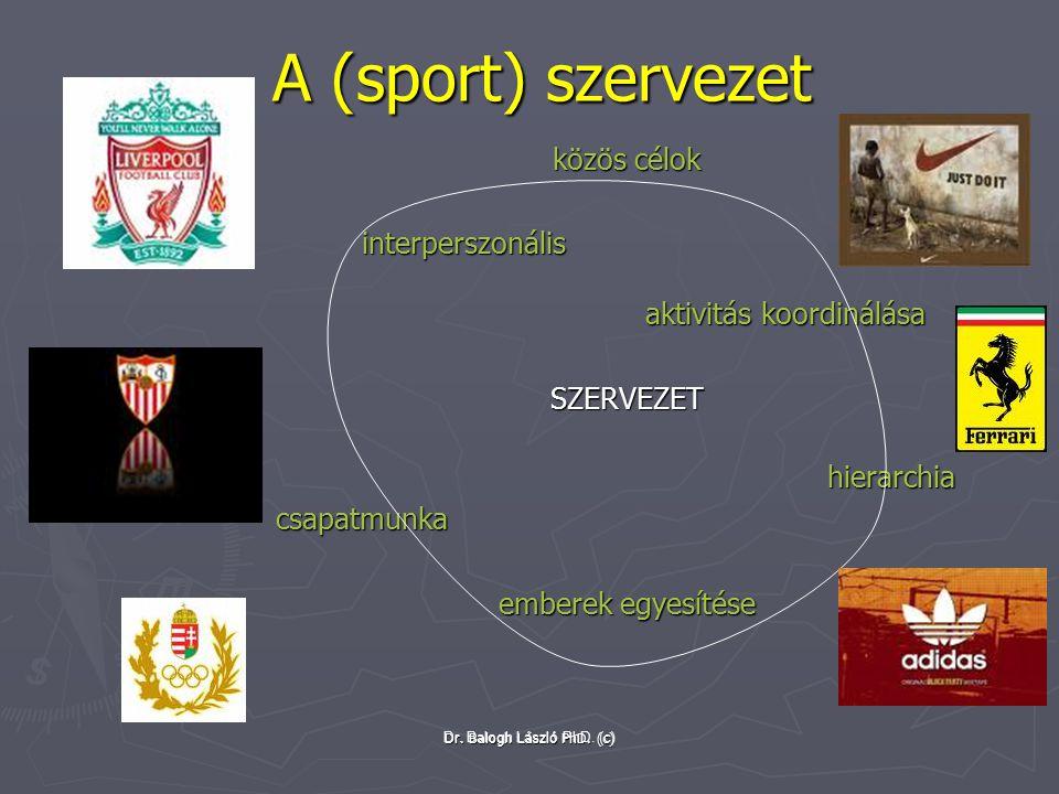 A (sport) szervezet közös célok