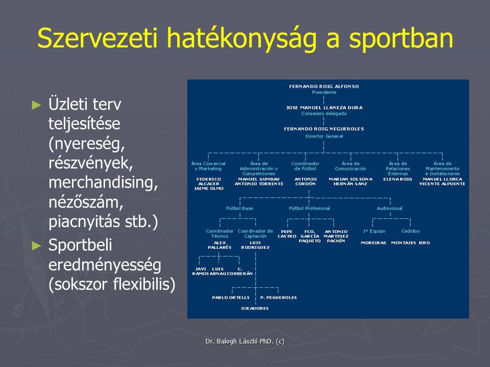 Szervezeti hatékonyság a sportban