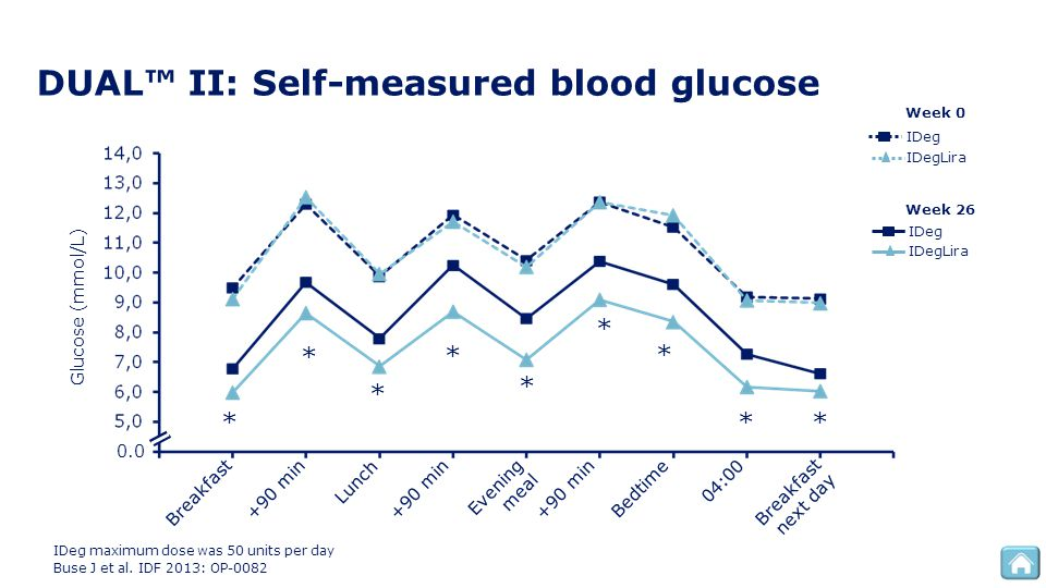 DUAL™ II: Self-measured blood glucose
