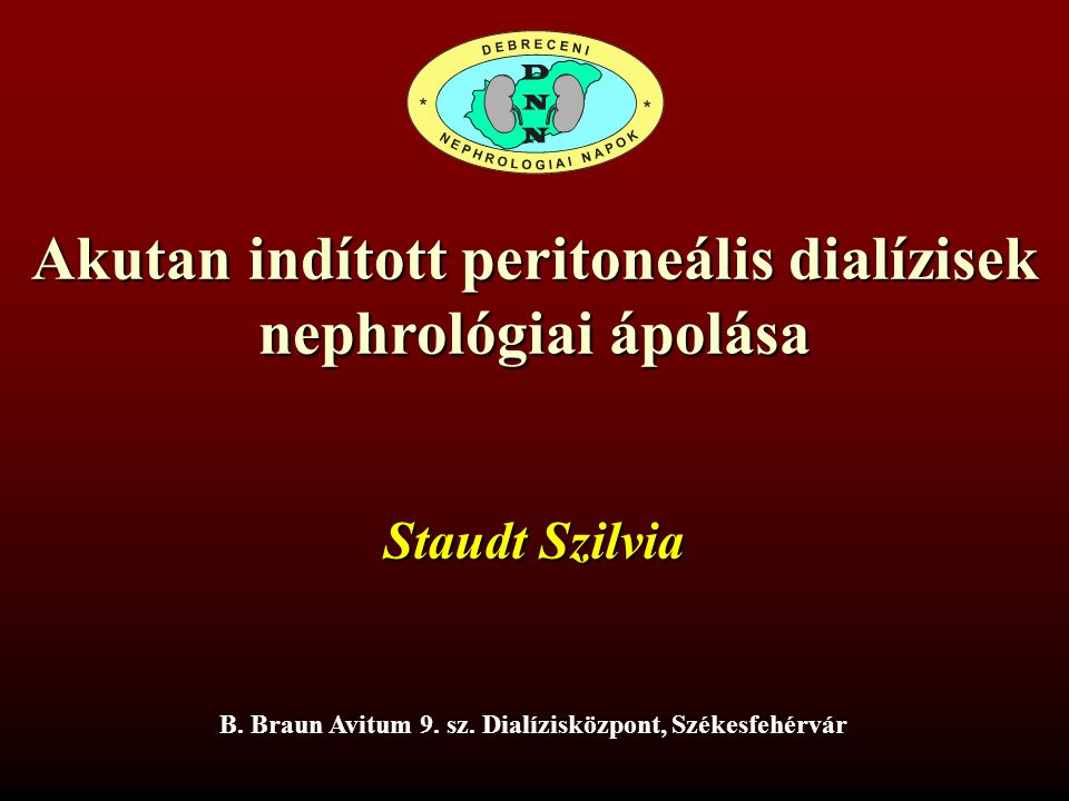 Akutan indított peritoneális dialízisek nephrológiai ápolása