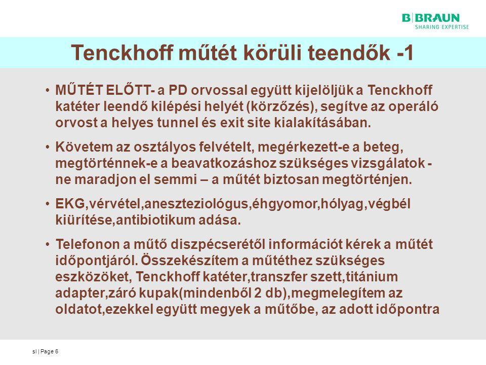 Tenckhoff műtét körüli teendők -1