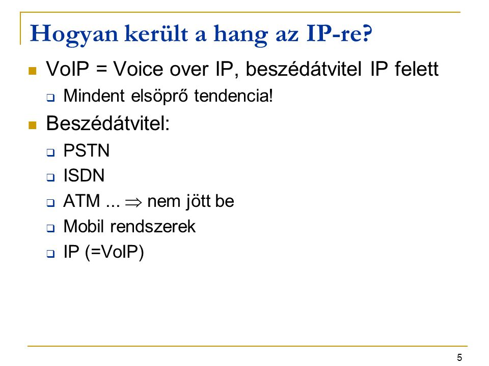 Hogyan került a hang az IP-re