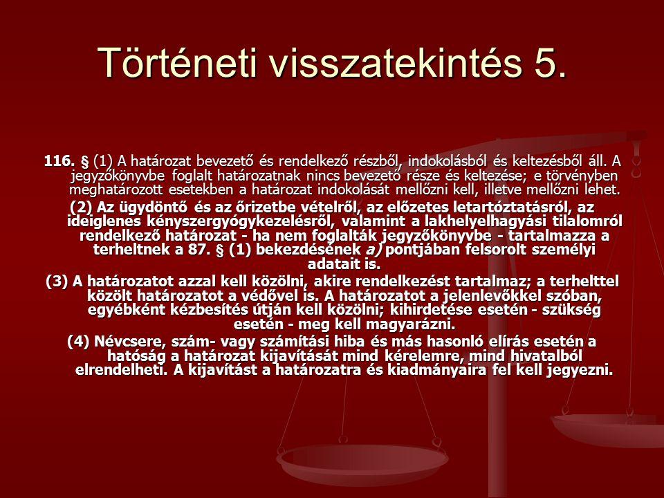 Történeti visszatekintés 5.