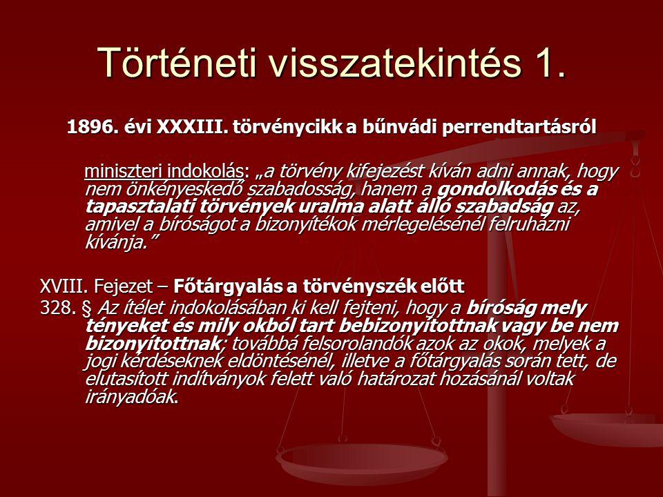 Történeti visszatekintés 1.