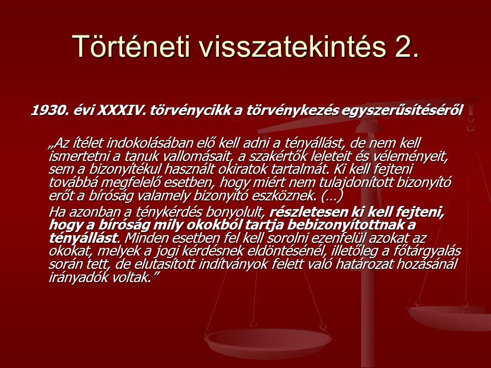 Történeti visszatekintés 2.