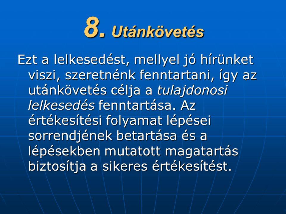 8. Utánkövetés