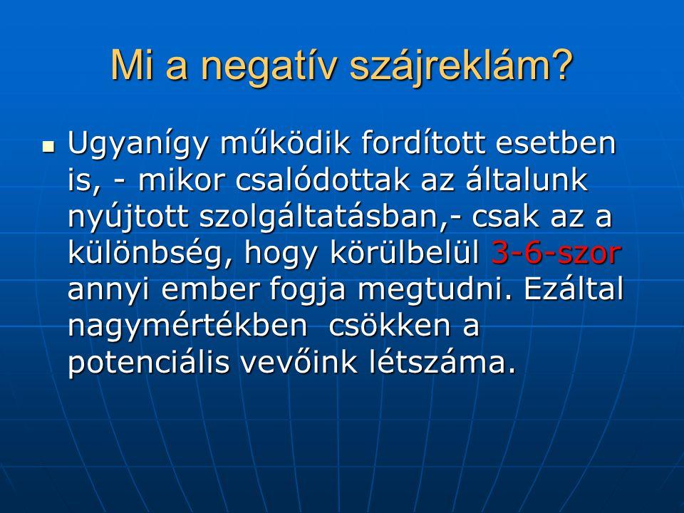 Mi a negatív szájreklám