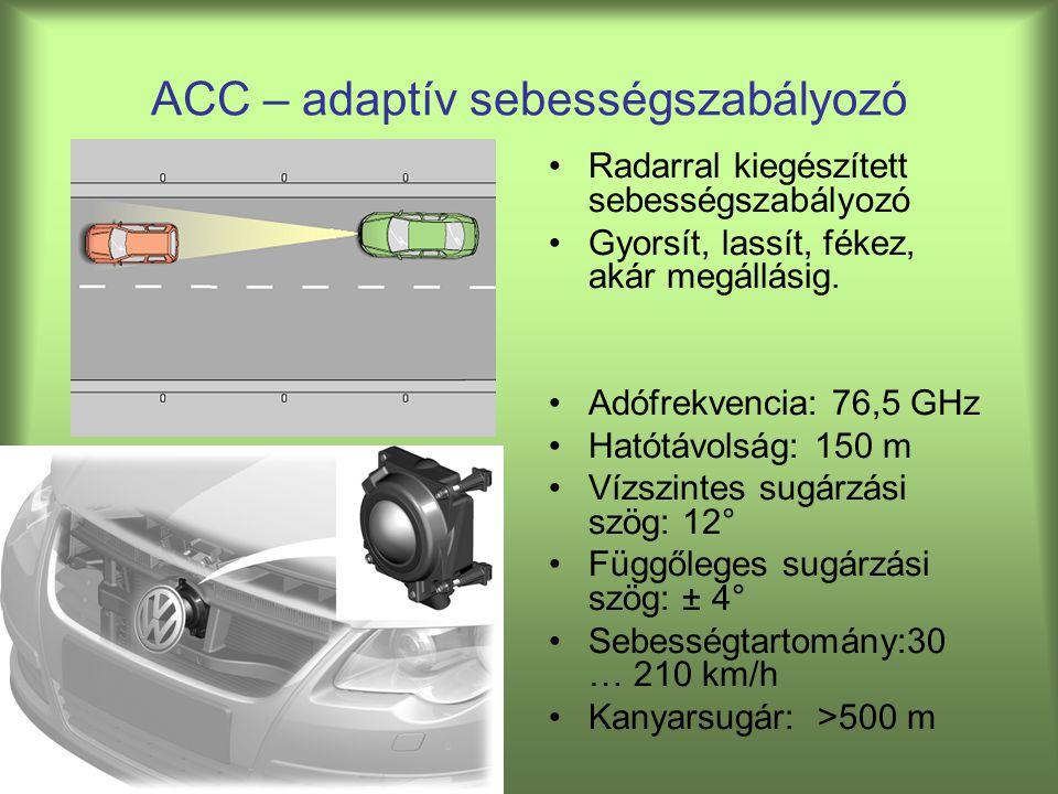 ACC – adaptív sebességszabályozó