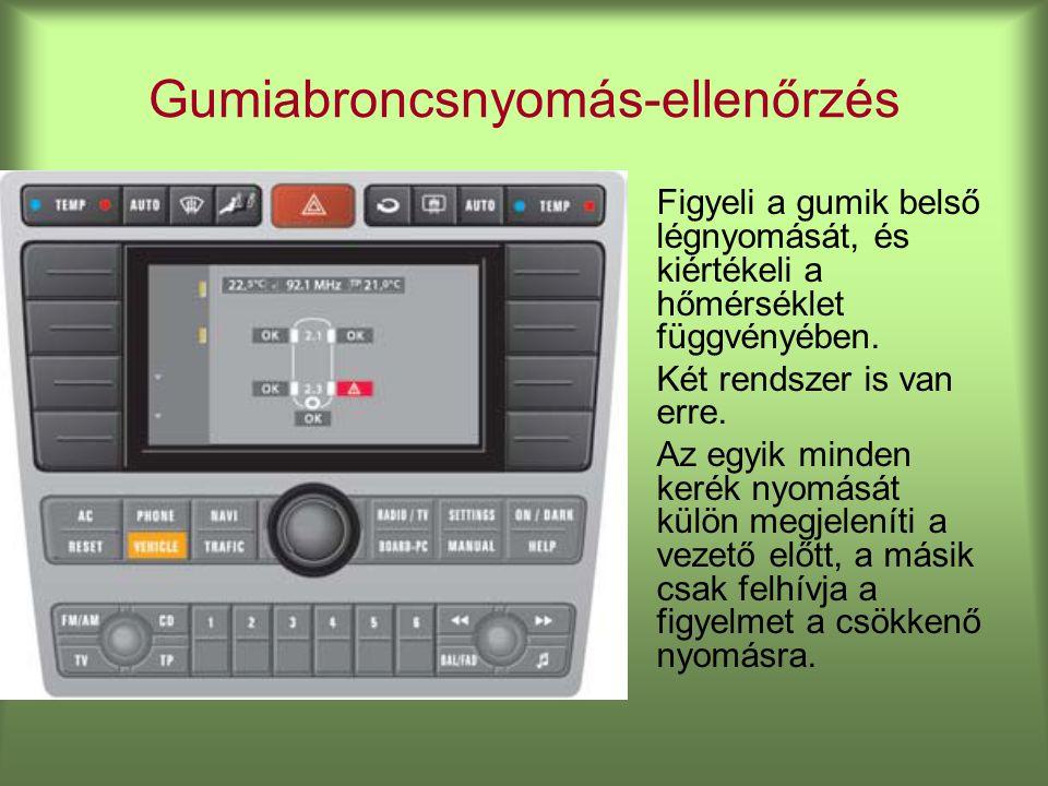 Gumiabroncsnyomás-ellenőrzés