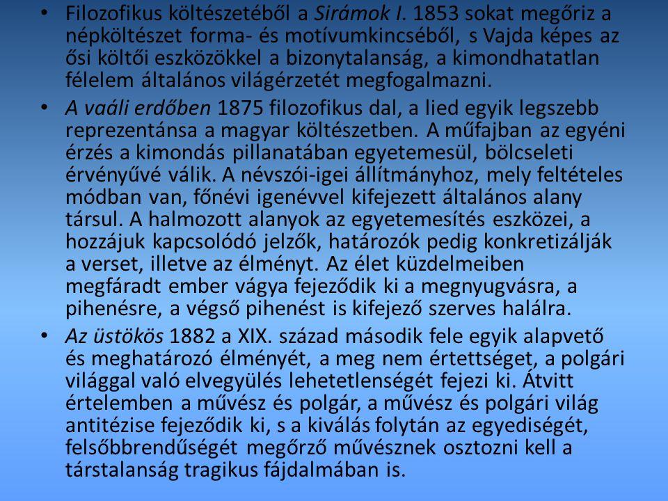 Filozofikus költészetéből a Sirámok I