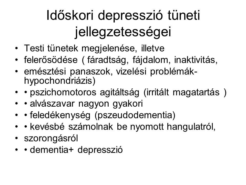 Időskori depresszió tüneti jellegzetességei