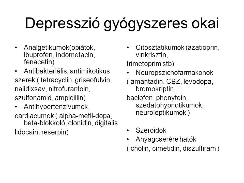 Depresszió gyógyszeres okai