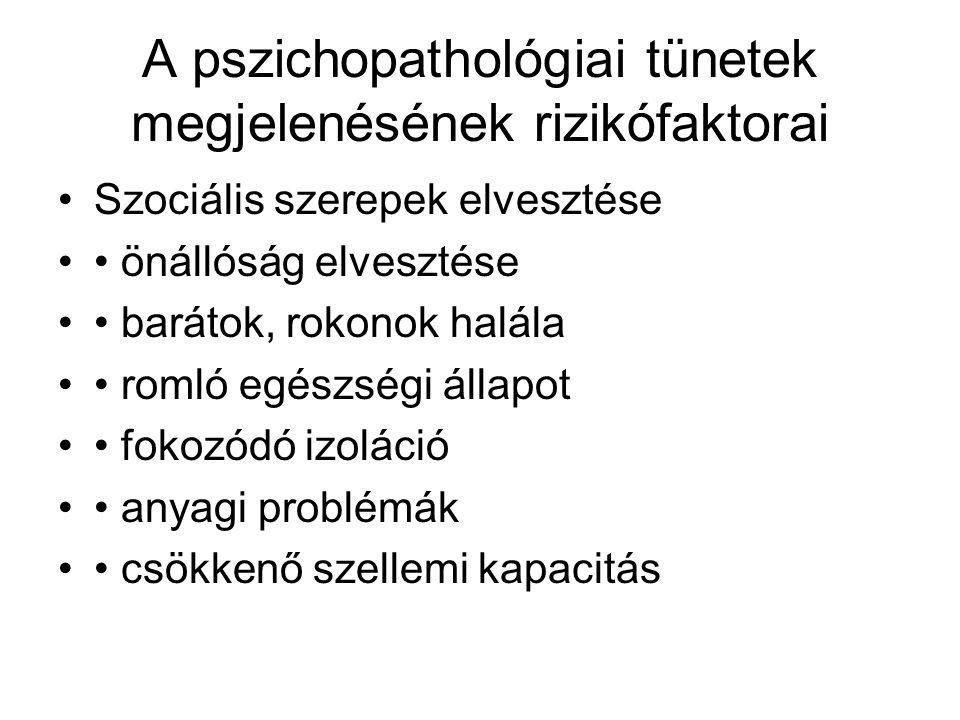 A pszichopathológiai tünetek megjelenésének rizikófaktorai
