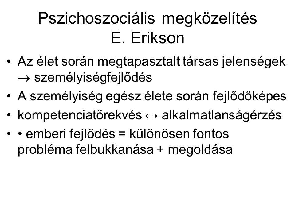Pszichoszociális megközelítés E. Erikson