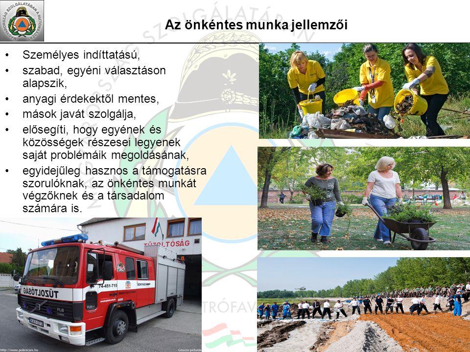 Az önkéntes munka jellemzői
