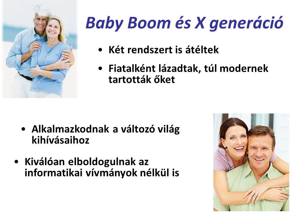 Baby Boom és X generáció