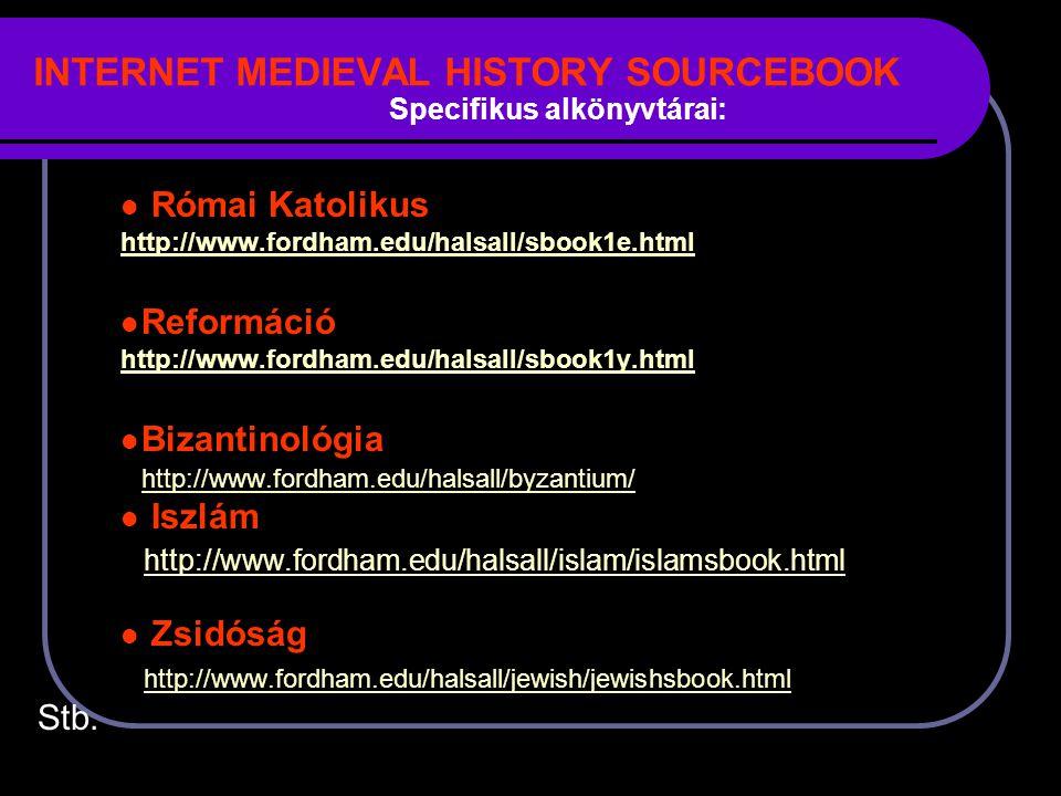 INTERNET MEDIEVAL HISTORY SOURCEBOOK