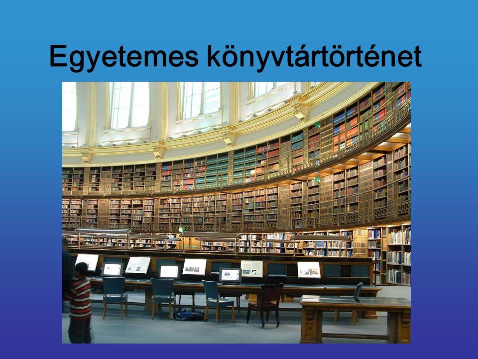 Egyetemes könyvtártörténet