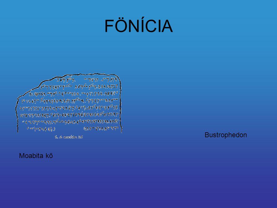 FÖNÍCIA Bustrophedon Moabita kő