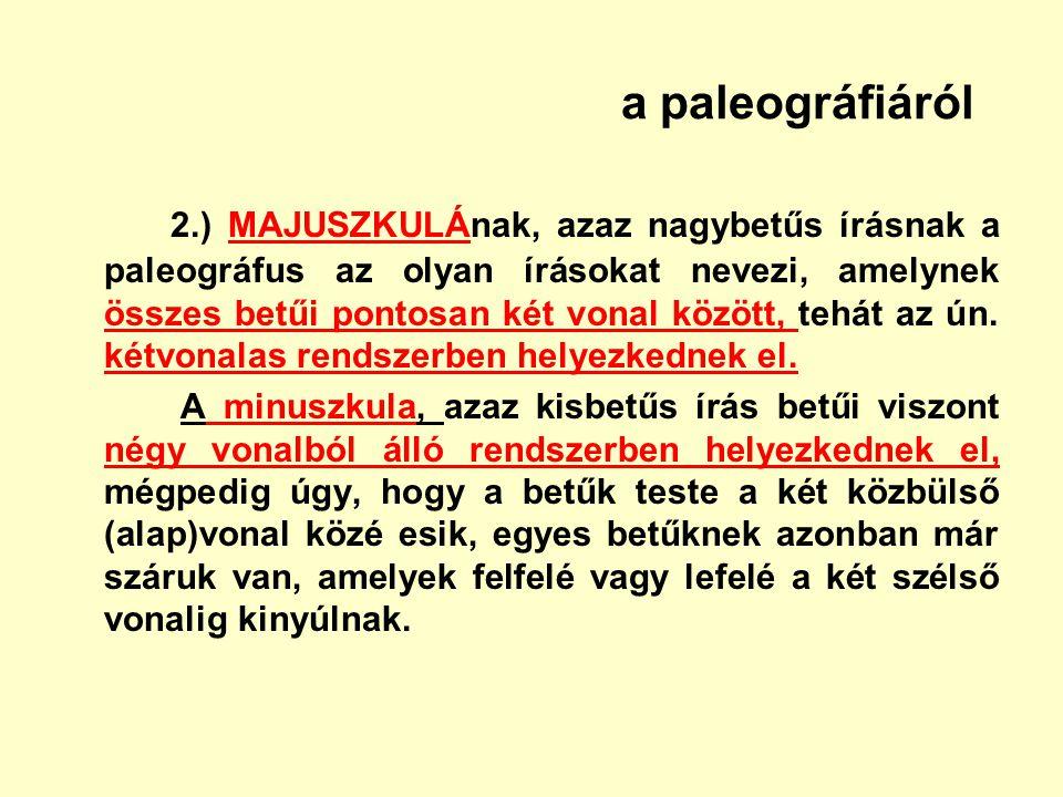a paleográfiáról