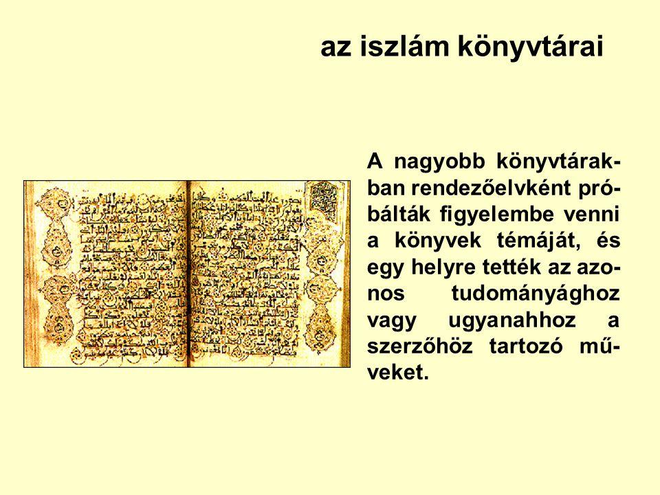 az iszlám könyvtárai
