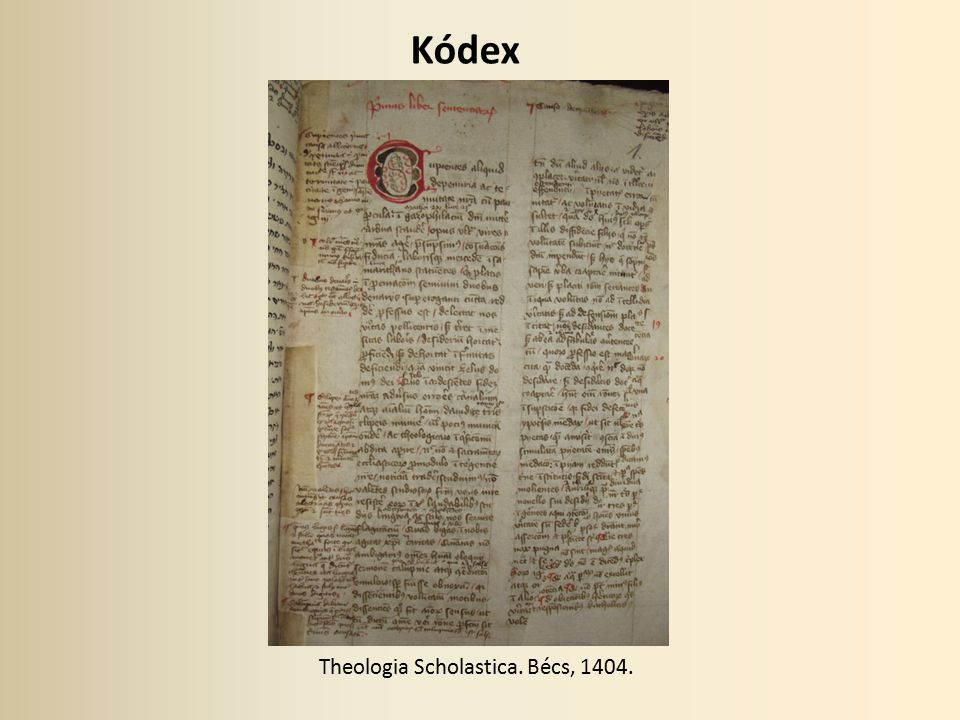 Theologia Scholastica. Bécs, 1404.
