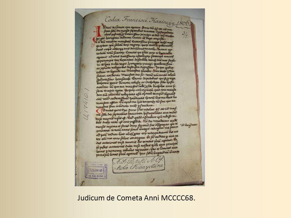 Judicum de Cometa Anni MCCCC68.