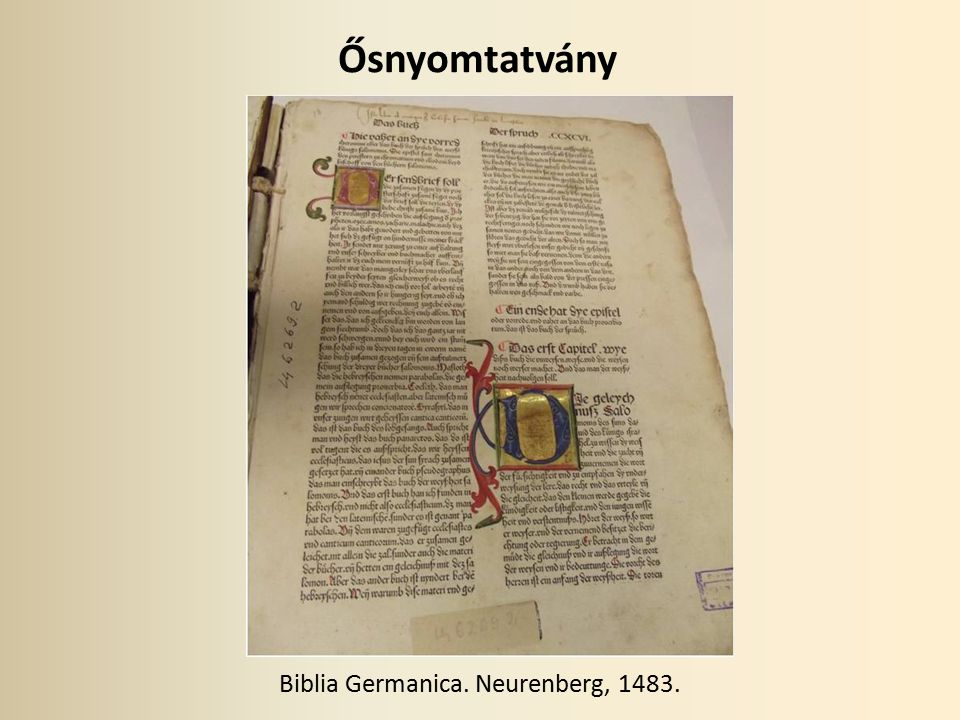 Biblia Germanica. Neurenberg, 1483.