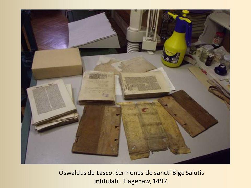 Oswaldus de Lasco: Sermones de sancti Biga Salutis intitulati