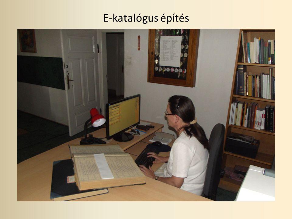E-katalógus építés