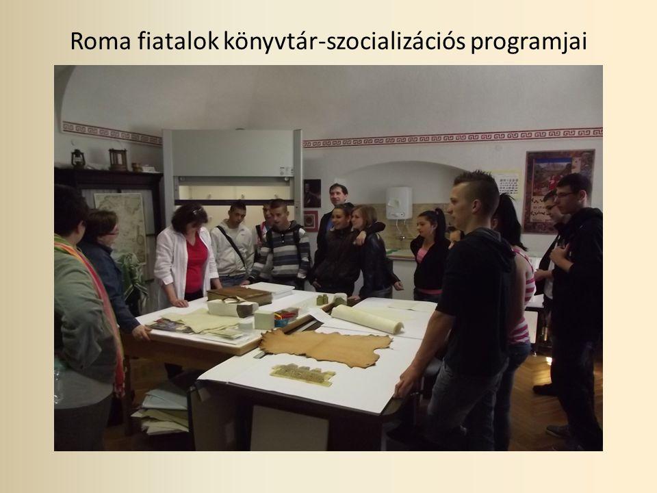 Roma fiatalok könyvtár-szocializációs programjai